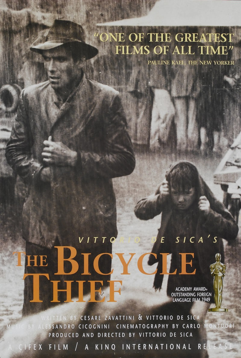 objective realism in the bicycle thief directed by vittorio de sica Cesare zavattini, de sica's scriptwriter and the major theorist of neo-realism, wrote both ''bicycle thief'' and ''umberto d'' and was intent on carrying out his theories more fully in the second.